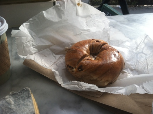 Zucker's Bagels, Cinnamon Rasin Bagel, NYC, Chambers Street, Financial District
