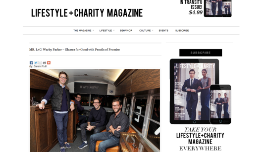 Sarah Ruth Boyer: Lifestyle + Charity, L+C for Warby Parker and Pencils of Promise